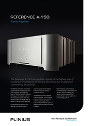 Reference A-150 Power Amplifier Brochure